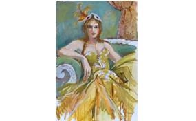 Sonia in Josephine's Dress